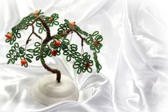 Tree of luck and happiness of beads Royalty Free Stock Photo