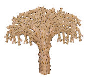 Tree made of boxes Stock Photo