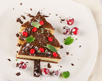 Tree made of  cake with mint Stock Photography