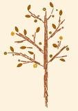 Tree made of cinnamon sticks Royalty Free Stock Photos