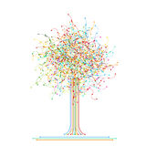 Tree made of colored abstract network Stock Images