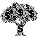 Tree made of money Stock Image