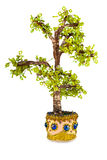 Tree. A tree is made out of beads and copper wire, brings prosperity Stock Images