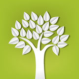 Tree made of paper cut out. Tree on green made of paper cut out Royalty Free Stock Photos