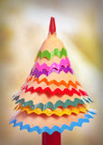 Tree made ​​of pencil shavings Royalty Free Stock Photography