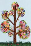 Tree made with quilling art Royalty Free Stock Images