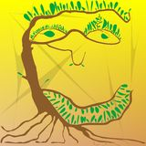Tree man. A tree that is looking like a man,  art illustration Royalty Free Stock Photography