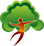 Tree man. Illustration art of a tree man logo with isolated background Royalty Free Stock Photo