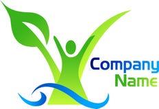 Tree man logo Stock Photo