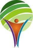 Tree man logo Royalty Free Stock Photography