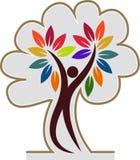 Tree man logo Stock Photography