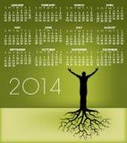 2014_tree_man_roots_cal.jpg 图库摄影