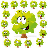 Tree with many expressions Royalty Free Stock Images