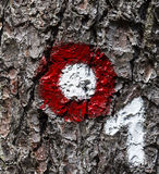 Tree mark with a number Stock Photography