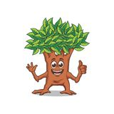 TREE MASCOT DESIGN Stock Images