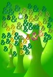 Tree money abstract Stock Photo