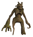 Tree monster with long arms Stock Photo