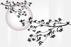 Tree with moon Royalty Free Stock Images