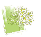 Tree motive, background design Royalty Free Stock Images
