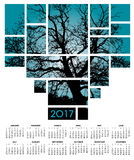 A 2017 tree and nature calendar. For print or web use Stock Photography