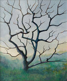 Tree No. 3. A painting of a rather creepy-looking tree Stock Image