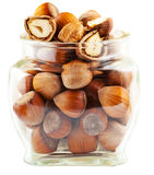 Tree nuts in a glass jar Stock Photos