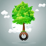 Tree On Power Button Royalty Free Stock Photo
