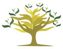 Tree of open hands Stock Image