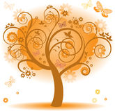 Tree with orange leaves Royalty Free Stock Photos