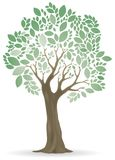 Tree ornamental. Icon, color, EPS10,  on white Stock Images