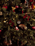 Tree with ornaments Royalty Free Stock Images