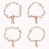 Tree Outline Stock Images