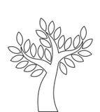 Tree outline shape Stock Photo