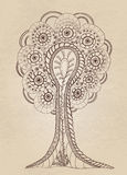 Tree på pappers- bakgrund Royaltyfria Bilder