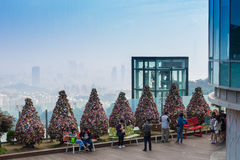 Tree of padlock of love at N seoul tower with blue sky of South Stock Photography