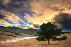 Tree painting Royalty Free Stock Photography
