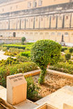Tree, Palace and garden. Amber Fort, the Palace-fortress in India Royalty Free Stock Images
