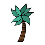Tree palm isolated icon Stock Photography