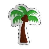 Tree palm isolated icon Stock Photo