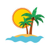 Tree palm summer icon Stock Image