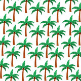 Tree palm summer pattern Royalty Free Stock Photo