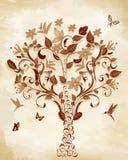 Tree on papyrus Stock Image