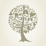 Tree of a part of a body2 Royalty Free Stock Photography