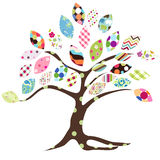 Tree patches. Pathes tree pattern on the white background Royalty Free Stock Image