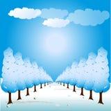 Tree path illustration Royalty Free Stock Photos