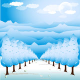 Tree path illustration Royalty Free Stock Photography