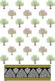 Tree pattern imaze Royalty Free Stock Photography