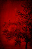 Tree pattern in red Royalty Free Stock Photo