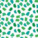 Tree pattern, seamless element in vector Stock Image