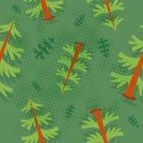 Tree pattern. Seamless tree pattern vector illustration retro style Stock Photography